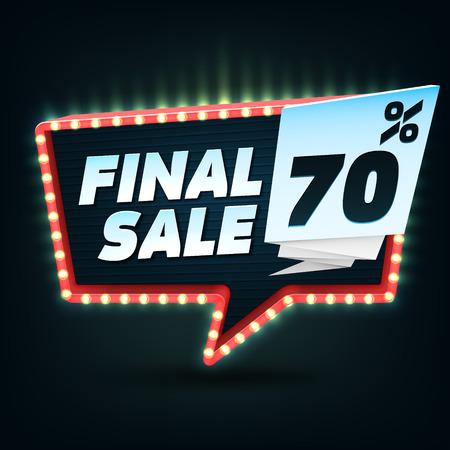 auction off: Final Sale Banner. Final Sale Discount.