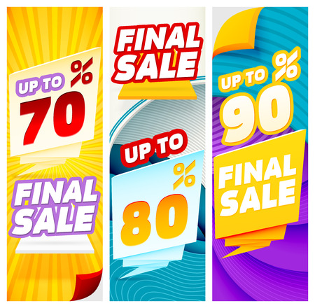 auction off: Final sale banners. Banner Templates. Abstract Modern Banners.