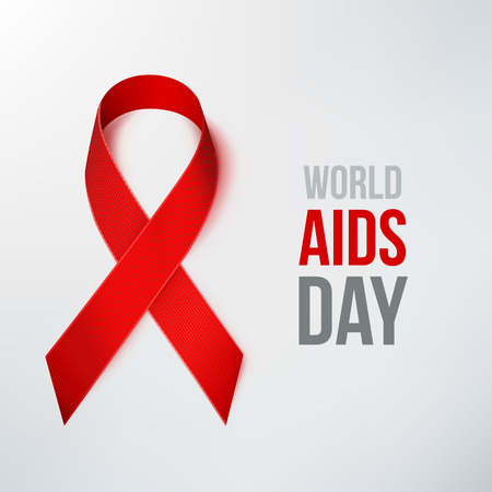aids symbol: AIDS Awareness Ribbon. World AIDS Day. Red Ribbon. Illustration