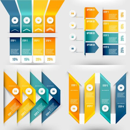 tabs: Modern Infographic Element Number Template. Vector Illustration. Can Be Used for Workflow Layout, Diagram, Business Step Options, Banner, Web Design