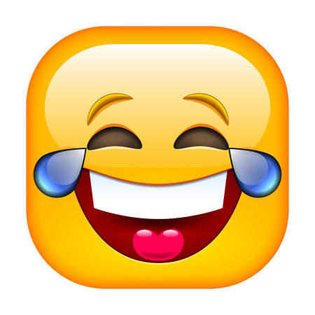 happy smile: Laughing Emoticon. Happy Smile. Smiling Face. Illustration