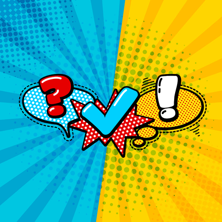 Vector Quiz embleem geïsoleerd. Vragenlijst Icon Sign. Poll Signs. Bubble Speech Expression Cartoons. Sociale Communicatie, chatten, Interview, Stemmen, Discussie, Talk, Team Dialog, Group Chat Symbolen