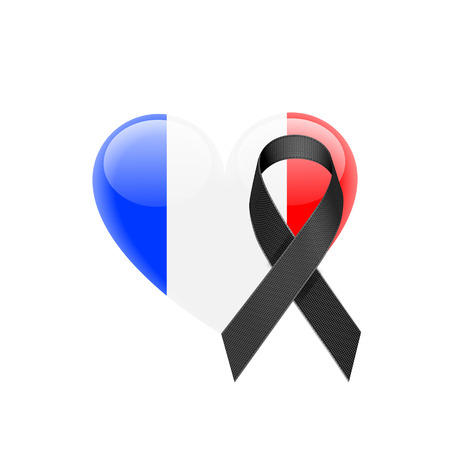 French flag heart icon.