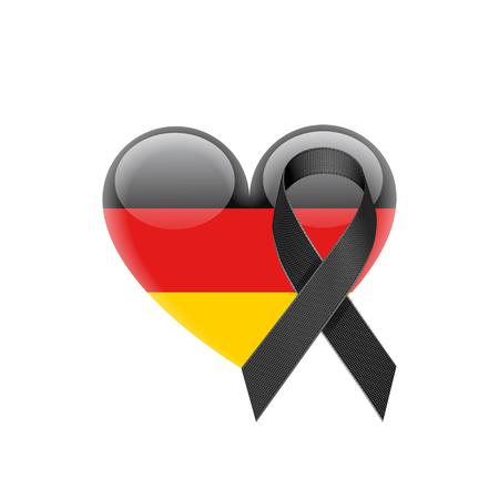 German flag heart icon. 版權商用圖片 - 88199175