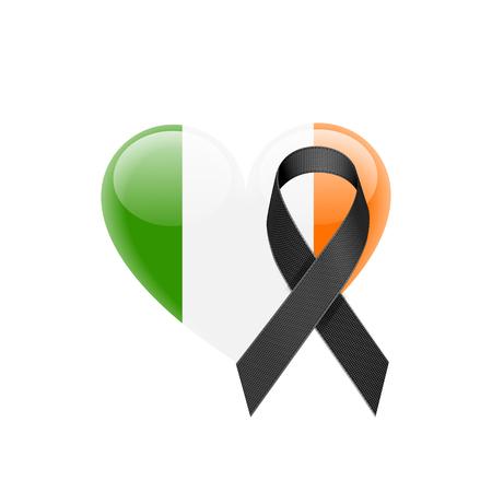 Irish flag heart icon.
