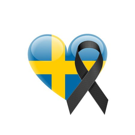 Swedish flag heart icon.