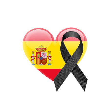 madrid spain: Spanish flag heart icon.