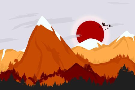 over the hill: mountains landscape background