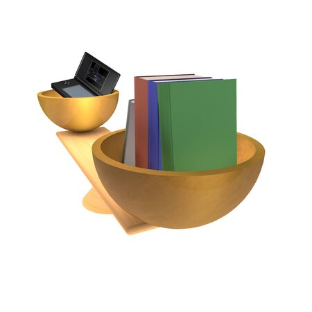 playstation: books and playstation ona swing Stock Photo