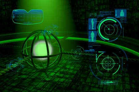 cyberspace abstract background Stock Photo