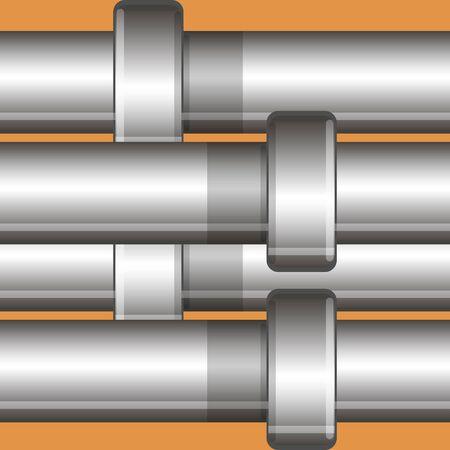 Metal pipe vector background Illustration