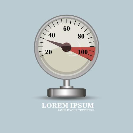 instrument panel: Creative gauge vector illustration.