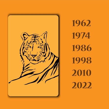 year of the tiger: Year animal tiger vector image Illustration