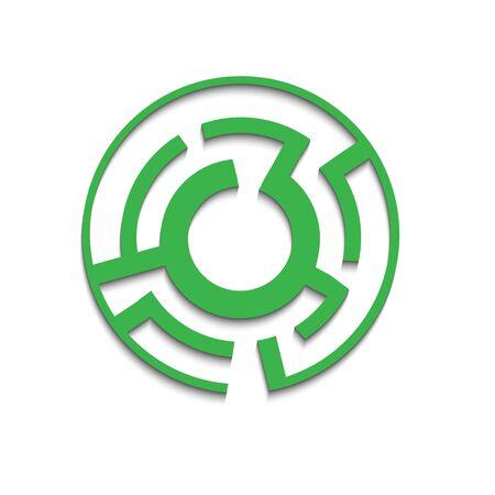 simple: circular maze simple vector illustration Illustration