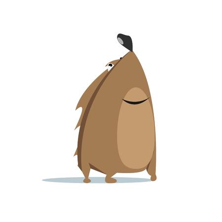 cartoon hedgehog: Cartoon hedgehog flat design vector illustration