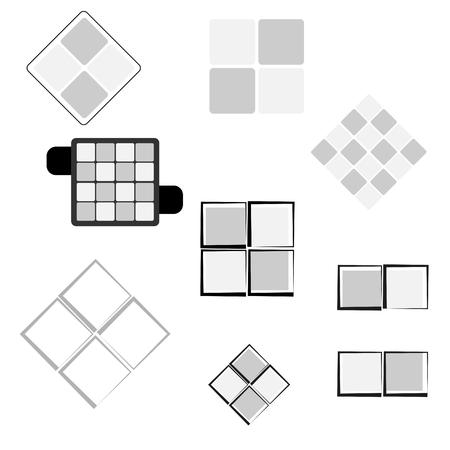 illustraion: square ornament for logo, icon, design elements and patterns vector illustraion