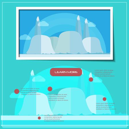 web site design: Creative outdoor landing page web site design vector illustration Illustration