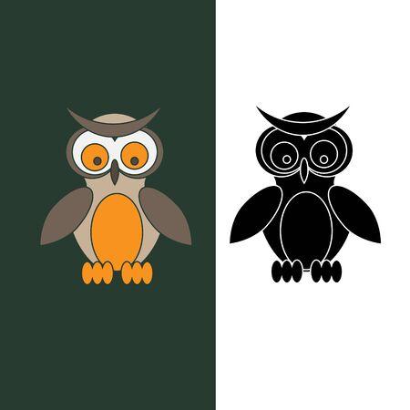 owl illustration: Cartoon owl vector illustration