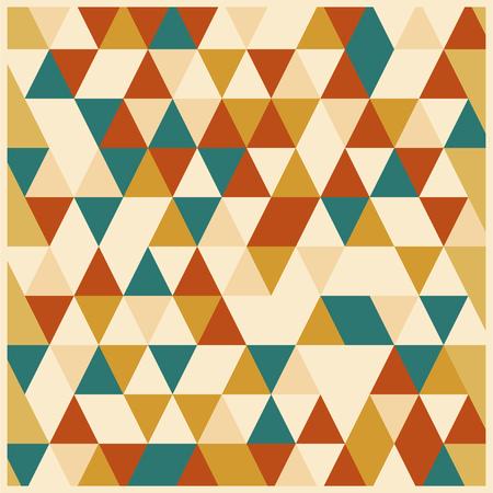 desing: Retro vintage desing mosaic ornament cover vector illustration Illustration