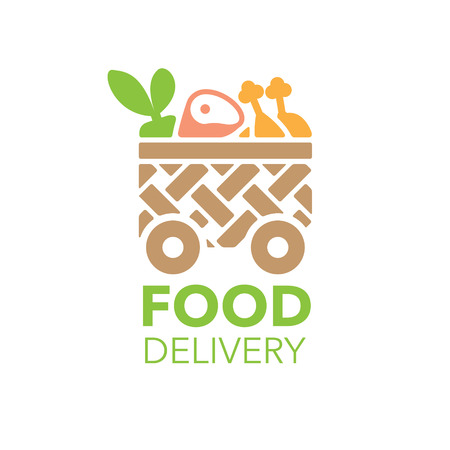 Fresh food delivery logo vector illustration