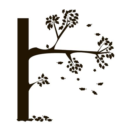 Outline simple hand drawn tree vector illustration 向量圖像