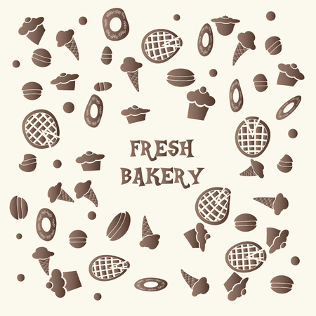 fresh bakery food hand drawn background vector illustration