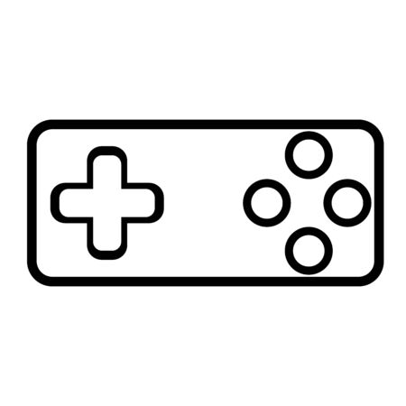 Old, retro game joystick icon. Can be use for web