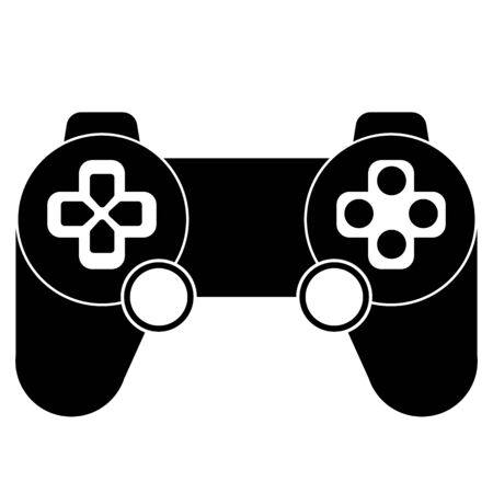 Video game controller game pad multi function flat vector icon for gaming apps and websites.