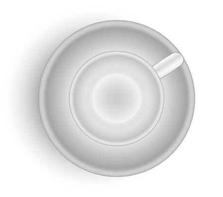 Empty cup for tea or coffee. Vectorm illustration can be use for web