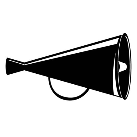 Megaphone symbol  illustration