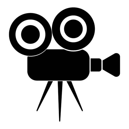 Video camera icon for record. Vector illustration can be use for web