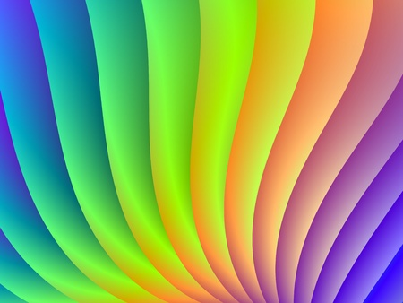 igital abstract design depicting a wave of colors blue, purple, green, yellow and orange. Zdjęcie Seryjne