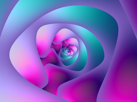 Computer generated fractal image with a spiral design in blue pink and purple. Zdjęcie Seryjne - 11986275