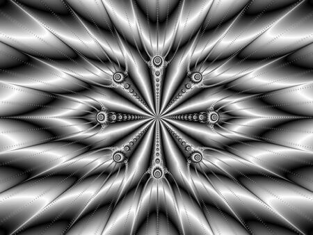 spoke: Digital abstract image with a monochrome spoke design Stock Photo