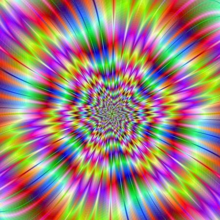 Star ExplosionDigital abstract image with a colorful explosion star design in lilac, blue, pink, yellow, and red. photo