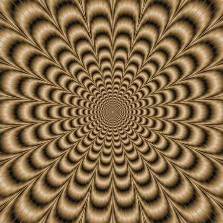 producing: Sepia Psychedelic PulseDigital abstract image with a psychedelic circular pattern in sepia coloring producing an optical illusion of movement.