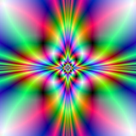 ネオンのネオン クロス デジタル抽象的なイメージ クロス デザイン ブルー、グリーン、ピンク 写真素材
