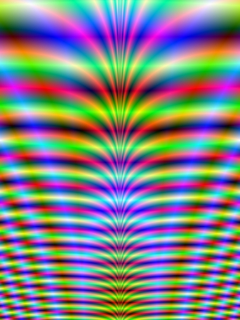 緑、青、赤のネオン リブ デザイン ネオン肋骨デジタル抽象的なフラクタル画像