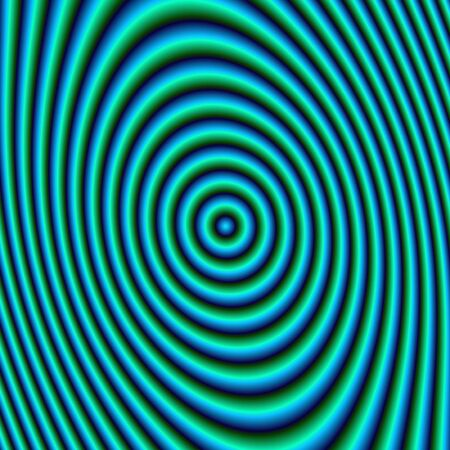 hues: Turquoise Rings Digital abstract fractal image with concentric rings in turquoise hues