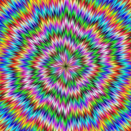Psychedelic Swirl / Digital abstract image with a psychedelic design  in red, green, blue and pink.