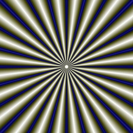 radiating: Digital astratto immagine frattale con un disegno tubo radiante in blu e verde. Archivio Fotografico