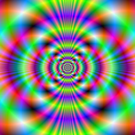 breen: Digital immagine astratta frattale con un disegno psichedelico in rosa neon Breen e blu.