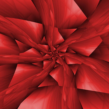 boulder: Digital abstract fractal image with spiral arms into a spiral boulder design in shades of red