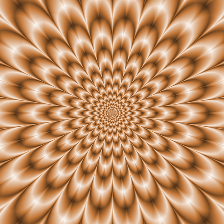 Pale Orange Chrysanthemum     A digitally rendered fractal image with a Chrysanthemum flower design in a washed out pale orange color  Imagens