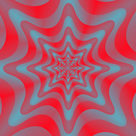 circular wave: Circular Wave in Red and Blue   A digital abstract fractal image with a circular wave design in red and blue  Stock Photo