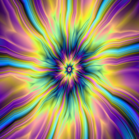 combustion: Combustion in Yellow Turquoise and Blue   A digital abstract fractal image with a combustion of color design in violet, turquoise, blue and yellow