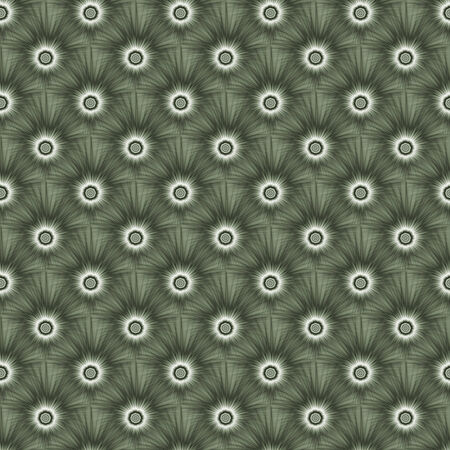 A digital fractal pattern with a tiled monochrome explosive design in green.
