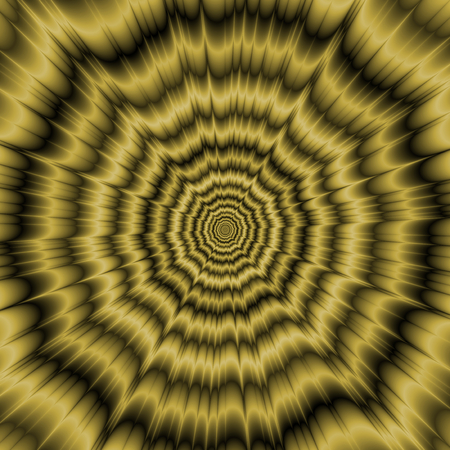 A digital abstract fractal image with an optically challenging monochrome explosion design in old gold. Zdjęcie Seryjne