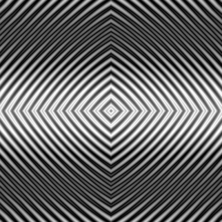 A digital abstract fractal image with a monochrome diamond pattern in black and white.
