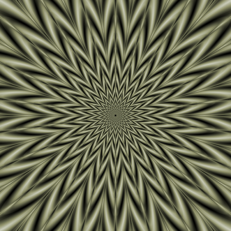 sage: An abstract fractal image with an exploding star design in sage green.